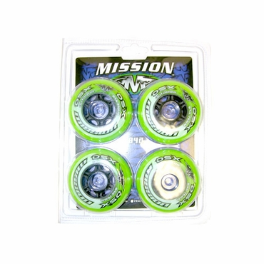 Mission DSX Outdoor Inline Hockey Wheels - 4 Pack