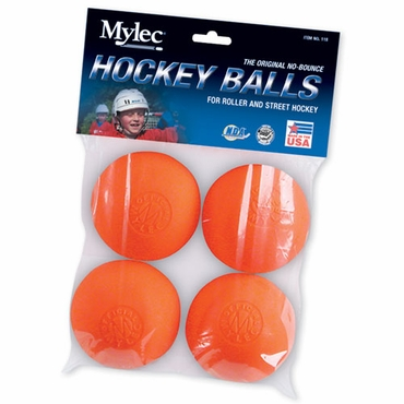 Mylec 118 No Bounce Hockey Ball - 4 Pack Carded