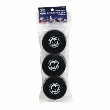 Mylec Mini Foam Hockey Puck - 3 Pack