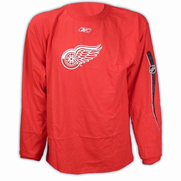 NHL Logo 2 Long Sleeve Hockey Shirt - Detroit Red Wings - Senior