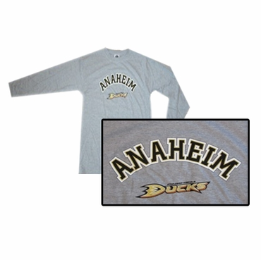 NHL Logo Senior Long Sleeve Hockey Shirt - Anaheim Ducks