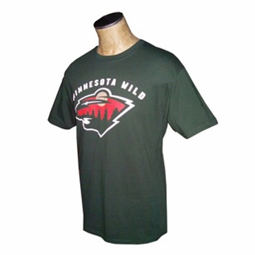 NHL Short Sleeve Hockey Shirt - Minnesota Wild - Dark Green - Senior