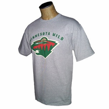 NHL Senior Short Sleeve Hockey Shirt - Minnesota Wild - Gray