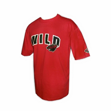 NHL Short Sleeve Hockey Shirt - Minnesota Wild - Red - Senior