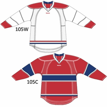 RBK 25P00 Junior NHL Edge Gamewear Hockey Jersey - Montreal Canadiens