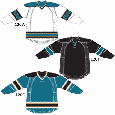 Reebok 25P00 Youth NHL Edge Gamewear Hockey Jersey - San Jose Sharks