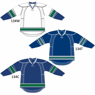 RBK 25P00 Junior NHL Edge Gamewear Hockey Jersey - Vancouver Canucks