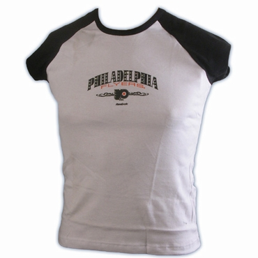 RBK 5033 Dazzled Short Sleeve Hockey Shirt - Philadelphia Flyers - Women