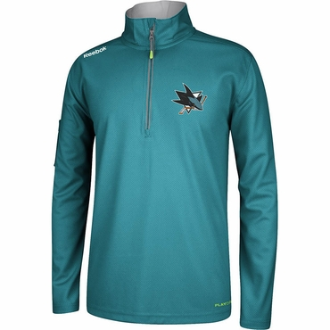 RBK Center Ice Hockey Quarter Zip Jacket - San Jose Sharks - Senior