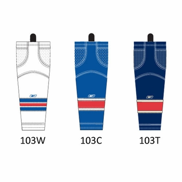 RBK SX100 NHL Edge Hockey Socks - New York Rangers - Junior