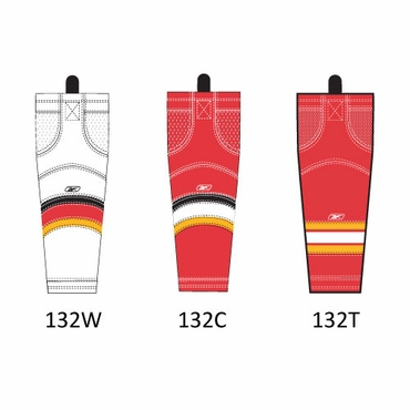 RBK SX100 NHL Edge Hockey Socks - Calgary Flames - Intermediate
