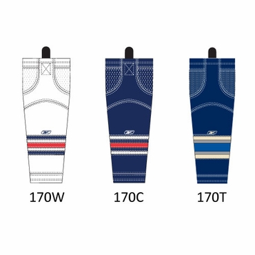 RBK SX100 NHL Edge Hockey Socks - Columbus Blue Jackets - Intermediate