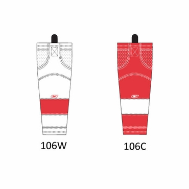 RBK SX100 NHL Edge Intermediate Hockey Socks - Detroit Red Wings