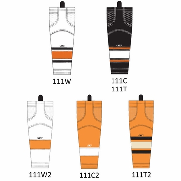 RBK SX100 NHL Edge Intermediate Hockey Socks - Philadelphia Flyers