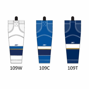 RBK SX100 NHL Edge Hockey Socks - St. Louis Blues - Intermediate