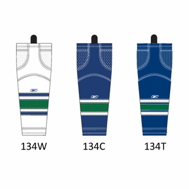 RBK SX100 NHL Edge Intermediate Hockey Socks - Vancouver Canucks