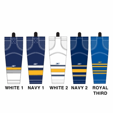 RBK SX100 NHL Edge Junior Hockey Socks - Buffalo Sabres