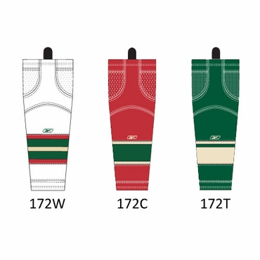 RBK SX100 NHL Edge Junior Hockey Socks - Minnesota Wild