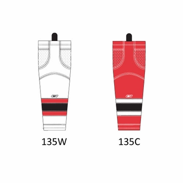 RBK SX100 NHL Edge Junior Hockey Socks - New Jersey Devils