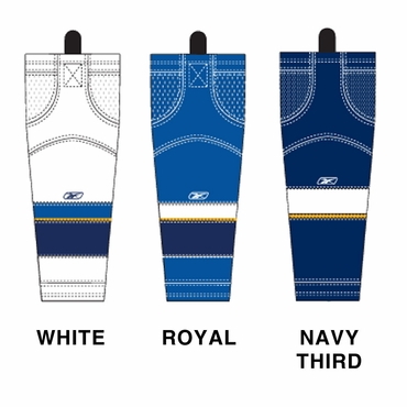 RBK SX100 NHL Edge Hockey Socks - St. Louis Blues - Junior