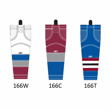 RBK SX100 NHL Edge Senior Hockey Socks - Colorado Avalanche