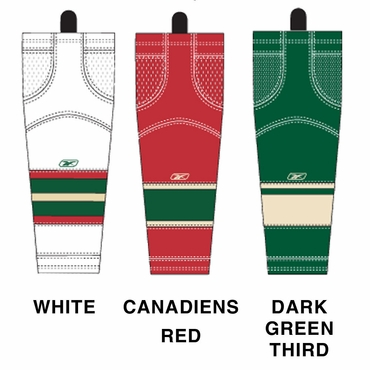 RBK SX100 NHL Edge Senior Hockey Socks - Minnesota Wild