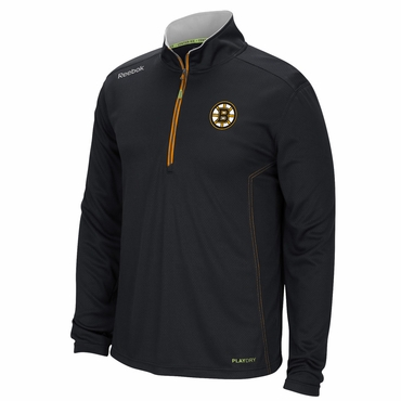 Reebok 4109A Baselayer Quarter Zip Hockey Jacket - Boston Bruins - Senior