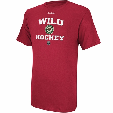 Reebok Center Ice Authentic Team Short Sleeve Shirt - Minnesota Wild - Senior