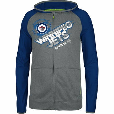 Reebok Center Ice TNT Full Zip Hockey Hoodie - Winnipeg Jets - Senior