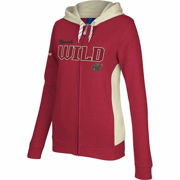 Reebok Core Womens Full Zip Hoodie - Minnesota Wild