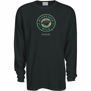 Reebok Faded Primary Logo Long Sleeve Shirt - Minnesota Wild - Senior