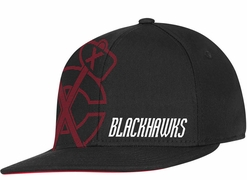 Reebok Flat Visor Flex Fit Senior Hat - Chicago Blackhawks