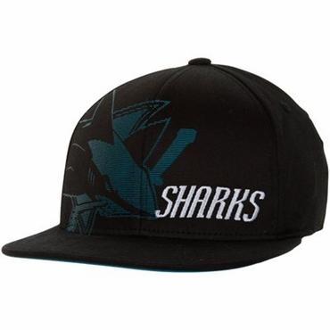 Reebok Flat Visor Flex Fit Senior Hat - San Jose Sharks