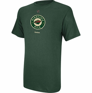 Reebok Primary Logo Senior Short Sleeve Shirt - Minnesota Wild