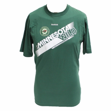 Reebok Pro Slant Short Sleeve Hockey Shirt - Minnesota Wild - Youth