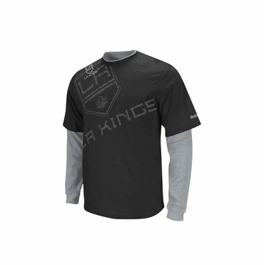Reebok Scrimmage Senior Long Sleeve Hockey Shirt - Los Angeles Kings