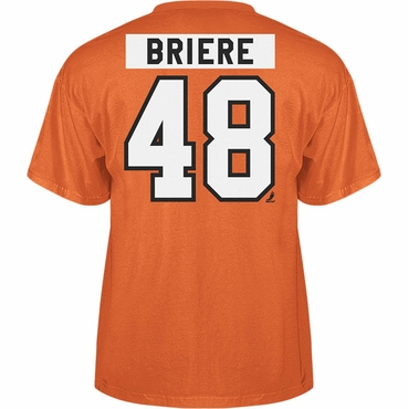 Reebok Short Sleeve Hockey Shirt - Philadelphia Flyers - Briere - Senior