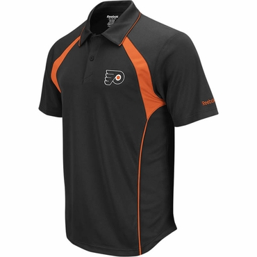 Reebok Trainer Senior Short Sleeve Hockey Polo Shirt - Philadelphia Flyers