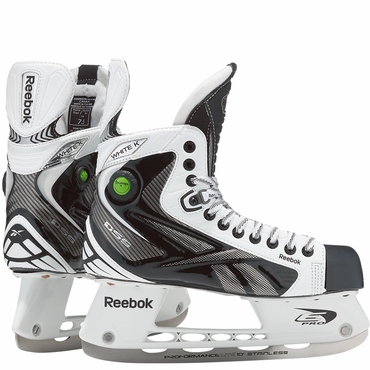 Reebok White K Pump Senior Ice Hockey Skates