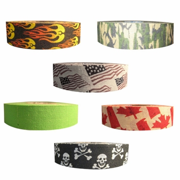 Renfrew Bright or Patterned Cloth Hockey Tape - 1 Inch
