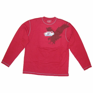 Roger Edwards Olympic Eagle Senior Long Sleeve Hockey Shirt - USA