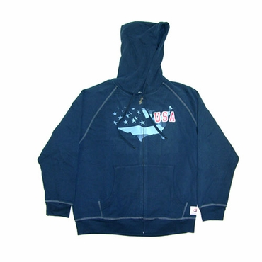Roger Edwards Olympic Full Zip Senior Hockey Hoodie - USA