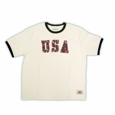 Roger Edwards Olympic Ringer Senior Short Sleeve Hockey Shirt - USA