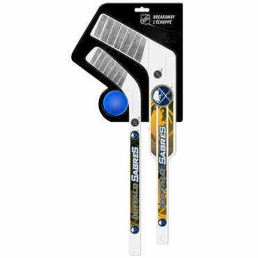 Sher-Wood Breakaway 3 Piece Mini Goalie & Player Stick with Foam Ball - Buffalo Sabres