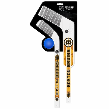 Sherwood Breakaway 3 Piece Mini Goalie & Player Stick with Foam Ball - Boston Bruins