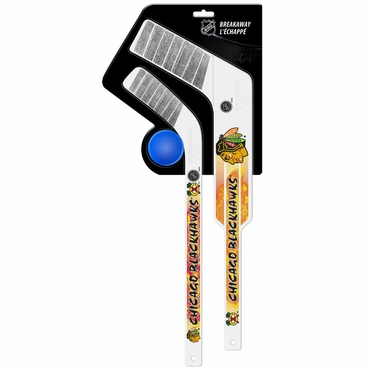 Sherwood Breakaway 3 Piece Mini Goalie & Player Stick with Foam Ball - Chicago Blackhawks