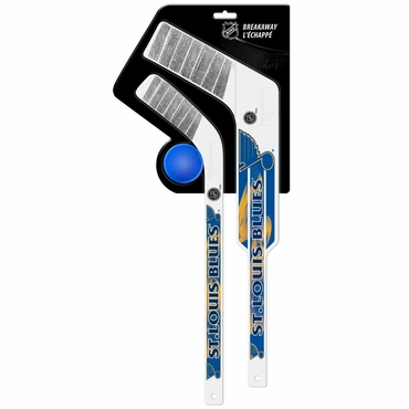 Sher-Wood Breakaway 3 Piece Mini Goalie & Player Stick with Foam Ball - St. Louis Blues