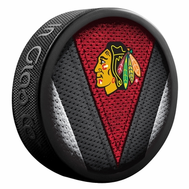 Sher-Wood NHL Stitch Souvenir Puck - Chicago Blackhawks