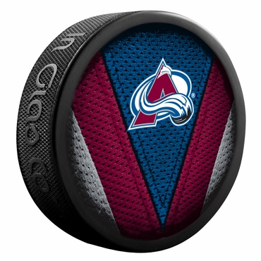 Sher-Wood NHL Stitch Souvenir Puck - Colorado Avalanche