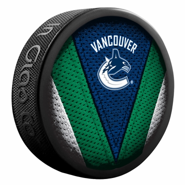 Sher-Wood NHL Stitch Souvenir Puck - Vancouver Canucks